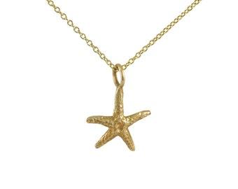 Vintage Gold Starfish Pendant / Charm