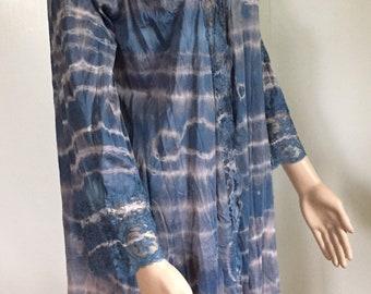 60b36710f81c Tie dye repurposed vintage dressing gown