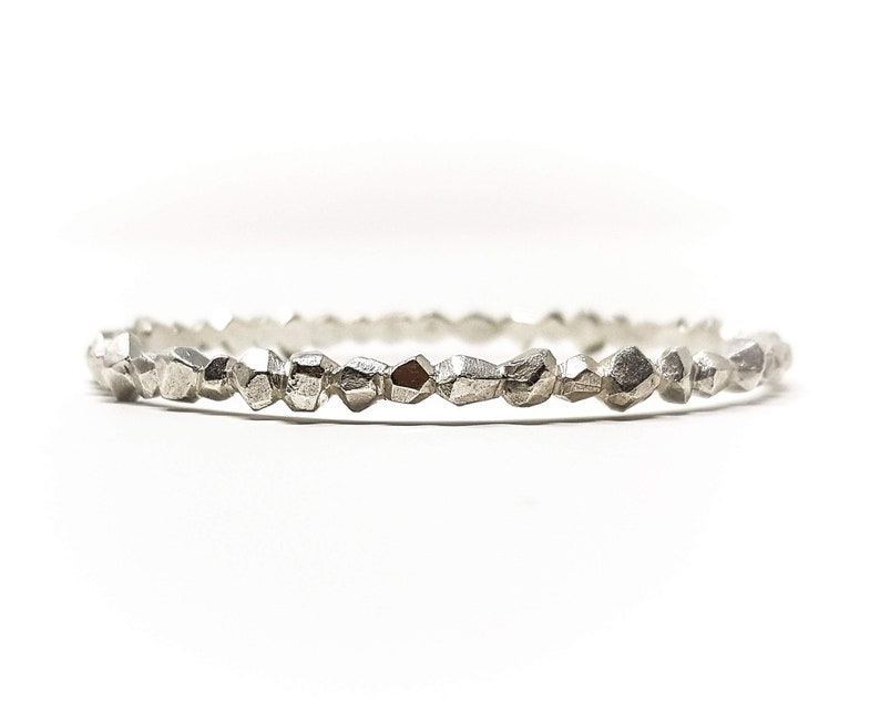 Silver rocks bangle bangle bracelet