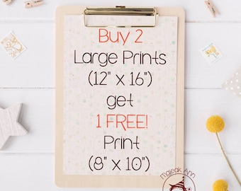 Buy 2 Large Prints get 1 Free! (Medium size Print) - Nursery Decor Wall Art, Baby Decor Wall Art, Whimsical Wall Art