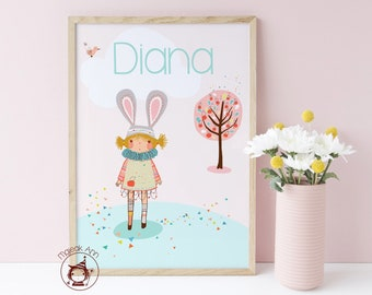 CUSTOMIZE your Baby Girl Poster (Bespoke your Design)