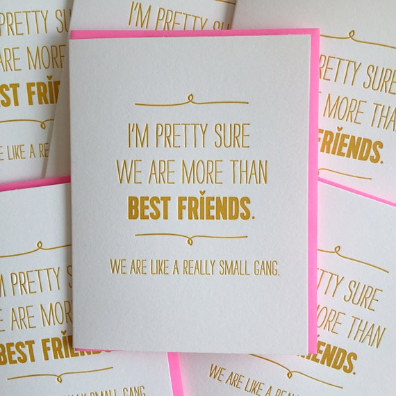 Best Friend Card Best Friend Birthday Card We Are Like A Etsy