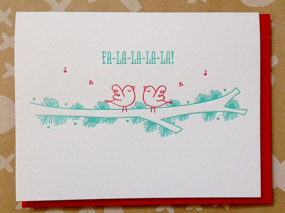 letterpress holiday cards set of 6 holiday cards etsy