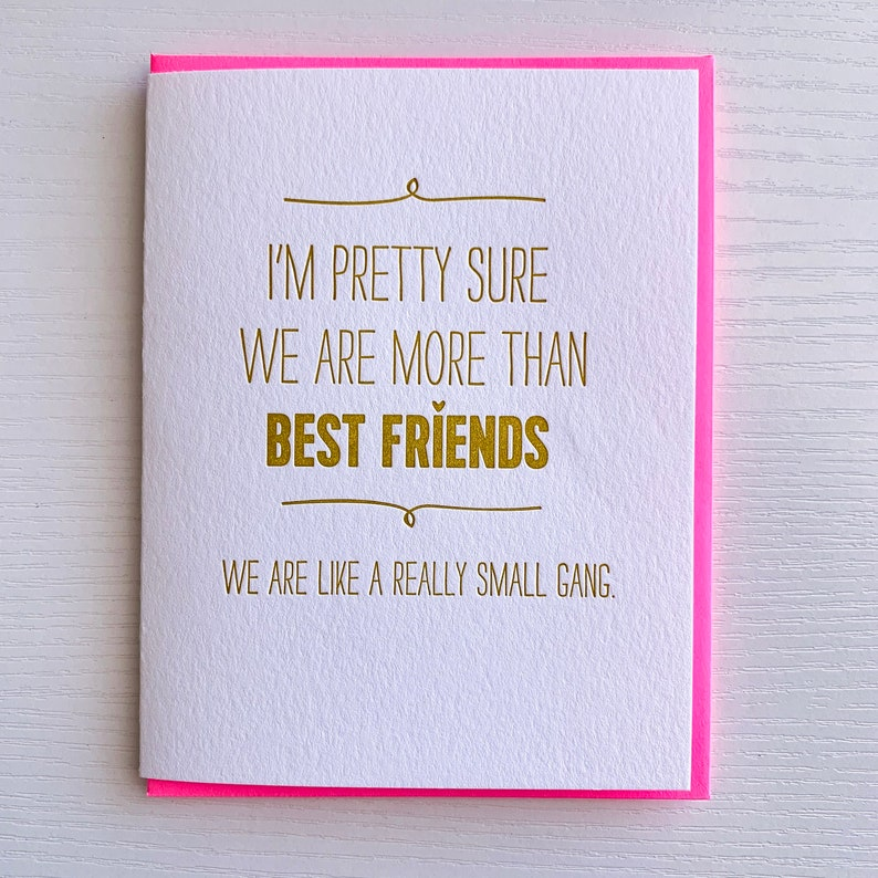 Best Friend Card Birthday For Gift We Are
