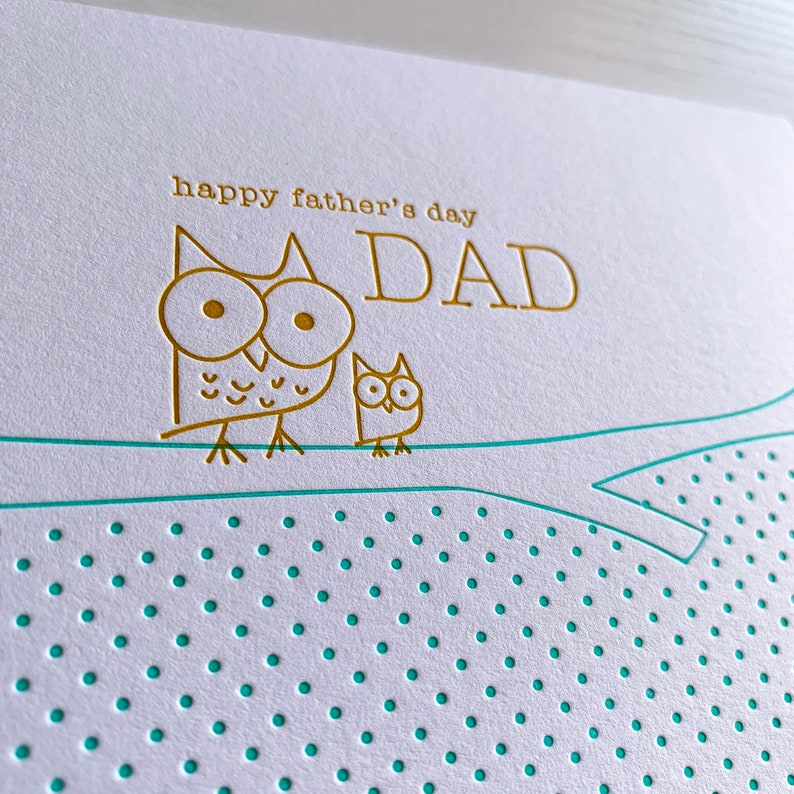 Fathers Day Card, Letterpress card for Dad, Cute Father's Day Card from baby