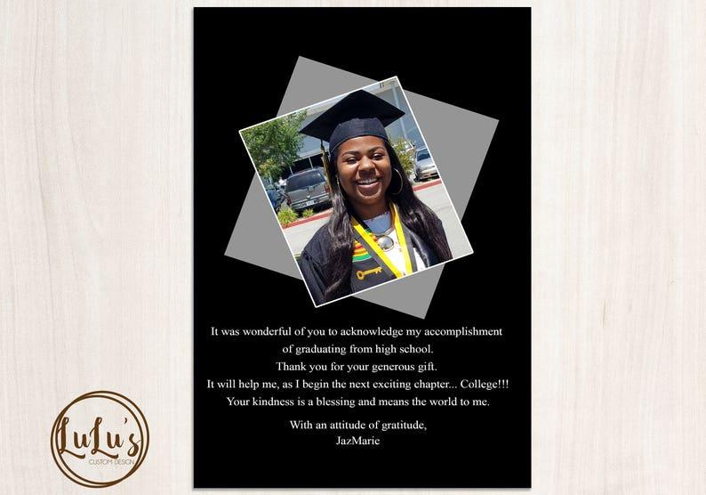 Graduation Thank You Card Graduation Personalized Thank You Cards Graduation Photo Thank You Cards Graduation Thank You Cards