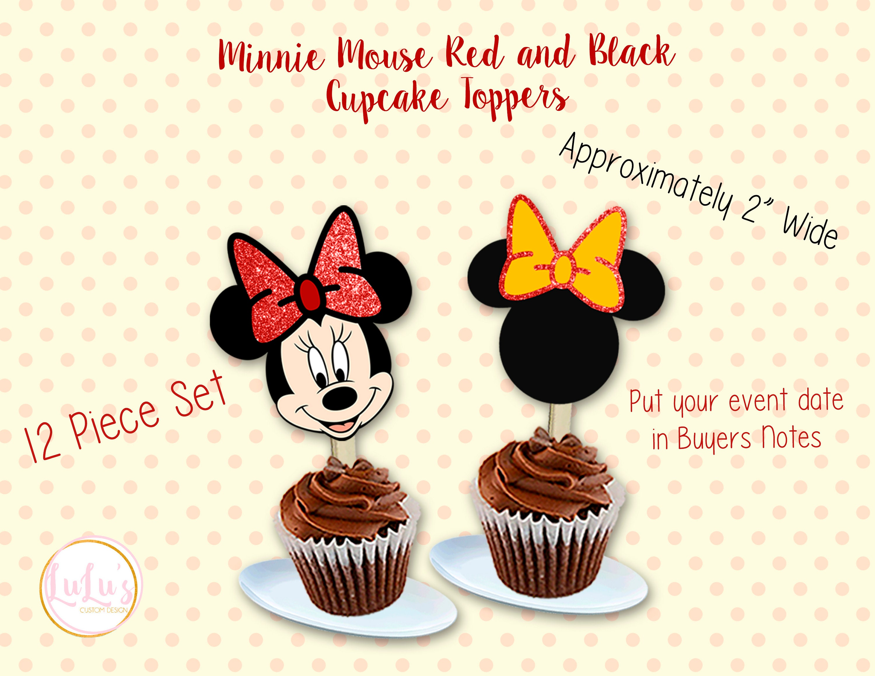 Stupendous Baby Minnie Mouse 1St Birthday Pink Cupcake Toppers Set Of 12 Funny Birthday Cards Online Alyptdamsfinfo