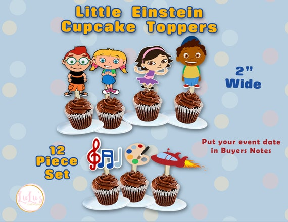 Cool Little Einstein Birthday Party Cupcake Toppers Little Etsy Birthday Cards Printable Nowaargucafe Filternl