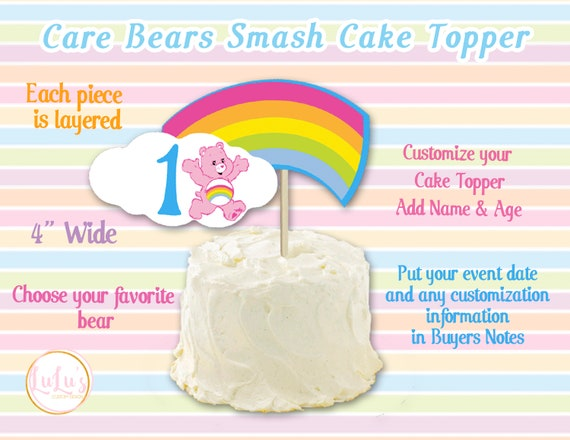 Outstanding Care Bears Smash Cake Topper Care Bears First Birthday Etsy Funny Birthday Cards Online Alyptdamsfinfo