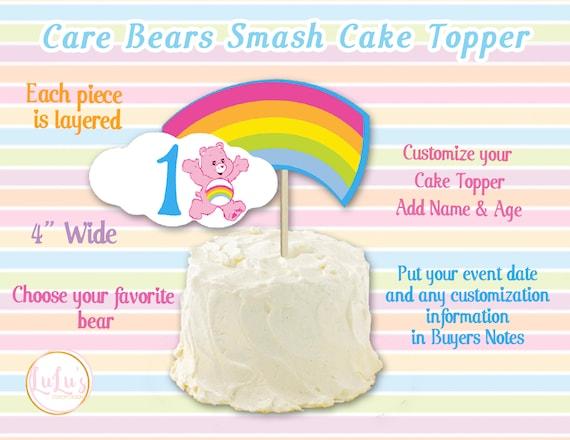 Sensational Care Bears Smash Cake Topper Care Bears First Birthday Etsy Birthday Cards Printable Benkemecafe Filternl
