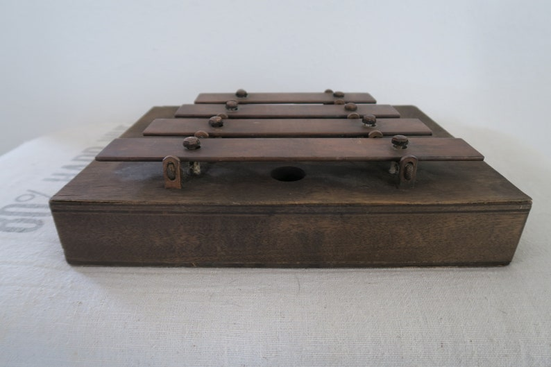 Vintage Original J  C  Deagan Chicago USA Wood Dinner, Traincar, Musical  Chimes Early 1900's