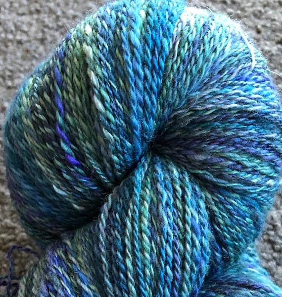 Handspun Corriedale/silk yarn