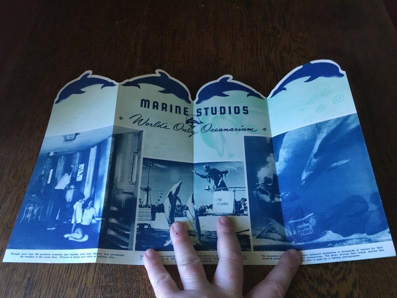 Vintage Tourist Pamphlet- Marine Studios- Florida Marine Land- Free  Shipping!