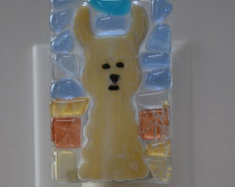 Alpaca Fused Glass Night Light