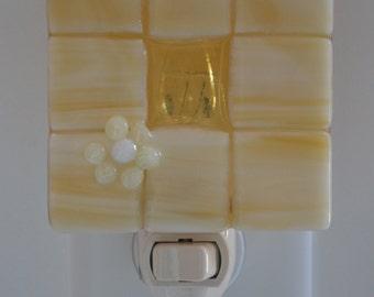 French Vanilla Fused Glass Night Light