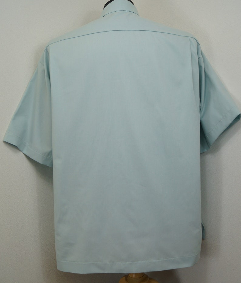 Select TAB or Fullband ready Untucked style CAMP Clerical tab shirt TEAL cotton-rich Oxford cloth select your size made to order
