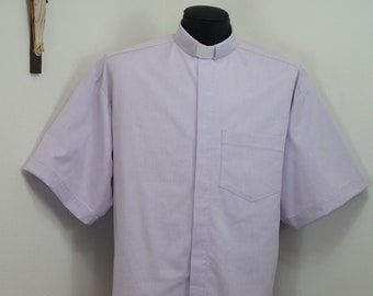"""CAMP Clerical tab shirt xl, LILAC purple cotton-rich Oxford cloth, Size XLarge with 17"""" TAB collar. Untucked style"""