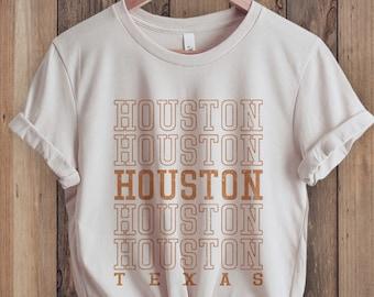 Houston Shirt, Texas Shirt, Houston T-Shirt, City Shirt, Retro 70s style Unisex Graphic Tee for Guys or Ladies, State Shirts