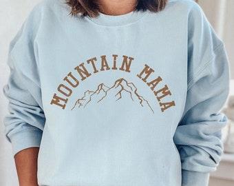 Mountain Mama Sweatshirt, Mom Sweatshirt, Mothers Day Vintage 70s style  Graphic Sweatshirts Guys Ladies,Hiking & Camping 4RUST PBL