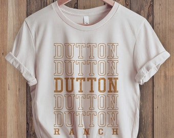 Dutton Ranch T-Shirt, Yellowstone Shirt, Montana Shirt, Retro 70s style  Unisex Graphic Tee for Guys or Ladies, State Shirts