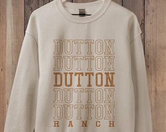 Dutton Ranch Sweatshirt, Yellowstone Shirt, Montana Sweatshirt Retro 70s style Unisex Guys or Ladies, State Sweatshirt