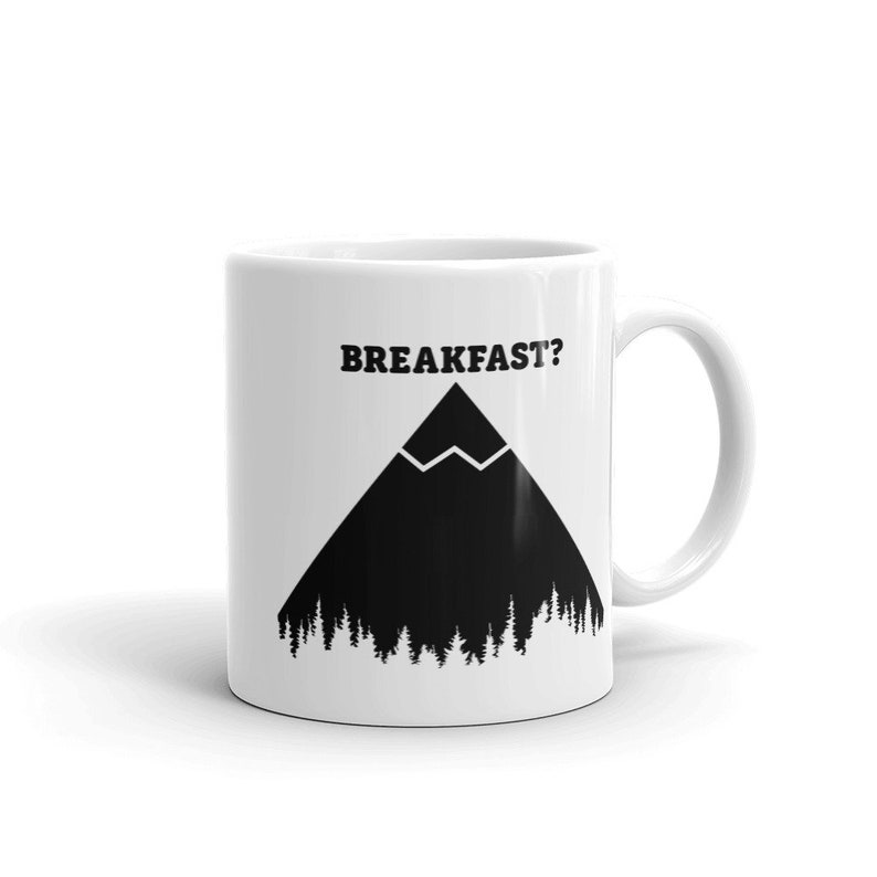 Superb Mountain Mug Gift Breakfast On The Mountain Peak Outdoor Adventure Coffee Hiking Camping Beutiful Home Inspiration Aditmahrainfo