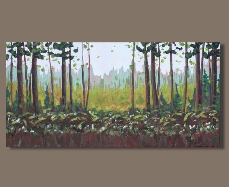 La Peinture De Paysage Foret Peinture Abstraite Cadeau Pour Etsy