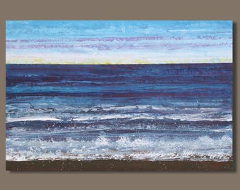 FREE SHIP large abstract painting, landscape painting, ocean painting, beach painting, seascape, nova scotia, blue, modern art on canvas,