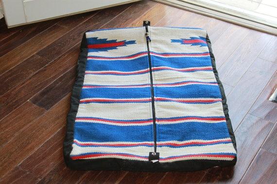 Vintage Travel Garmet bag Serape Blanket  Serape h
