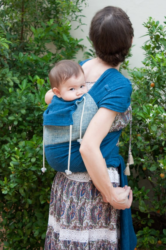 Meh Dai Toddler Carrier Easy Babywearing For Toddler Since 18 Months Natural Indigo Handwoven Fabric Soft Carrier 61 Toddler 18m 4t