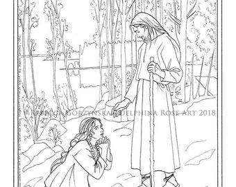 easter christ and mary magdalene coloring page albert edelfelt resurrection christian catholic realism