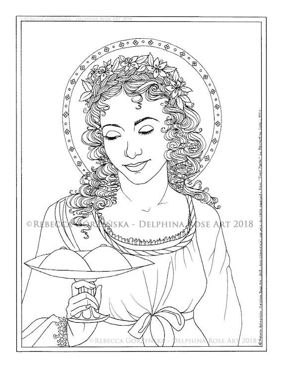 patron saint coloring pages - photo#17