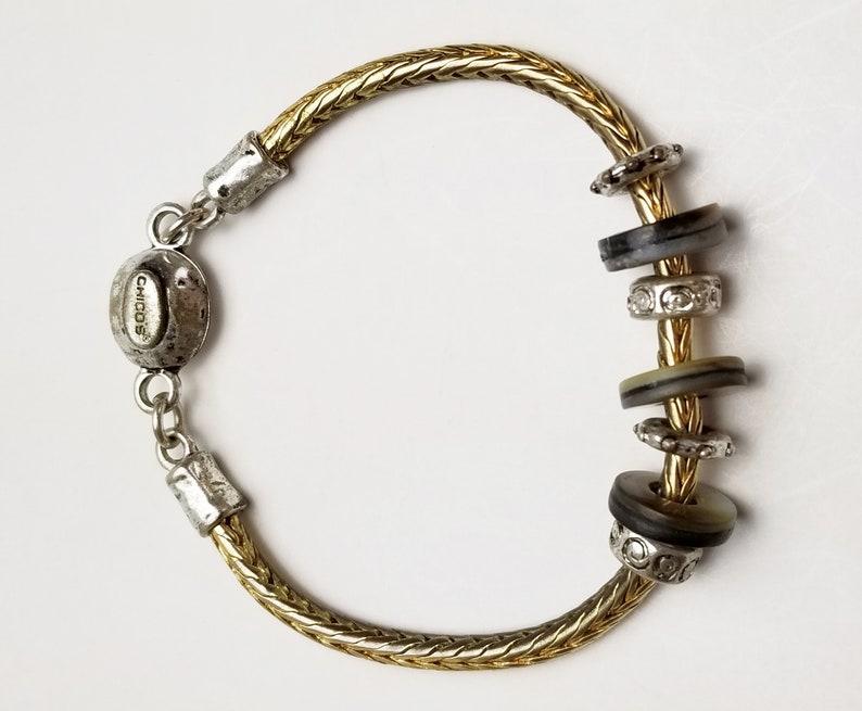 Signed Chico's Slider Charm Bracelet Vintage Costume image 0