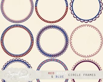 Red White Blue Frame Etsy