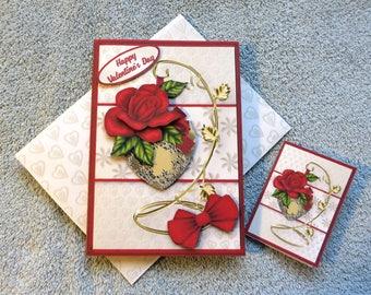 """Handmade """"Valentine Wishes""""  Valentine's day card."""