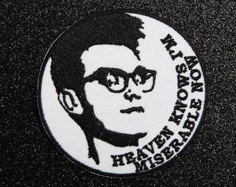 Heaven Knows I'm Miserable Now Patch - Made with Vegan Iron-On Adhesive - Smiths Inspired Morrissey '80s Punk Manchester Indie Hipster