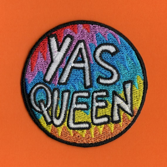 Yas Queen LGBT Pride Rainbow Flag Patch Gay Right Embroidered Patch for Jacket