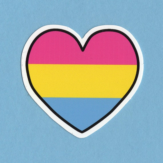 Pan Pride Flag Layered Vinyl Sticker Pansexual Pride US State Decal