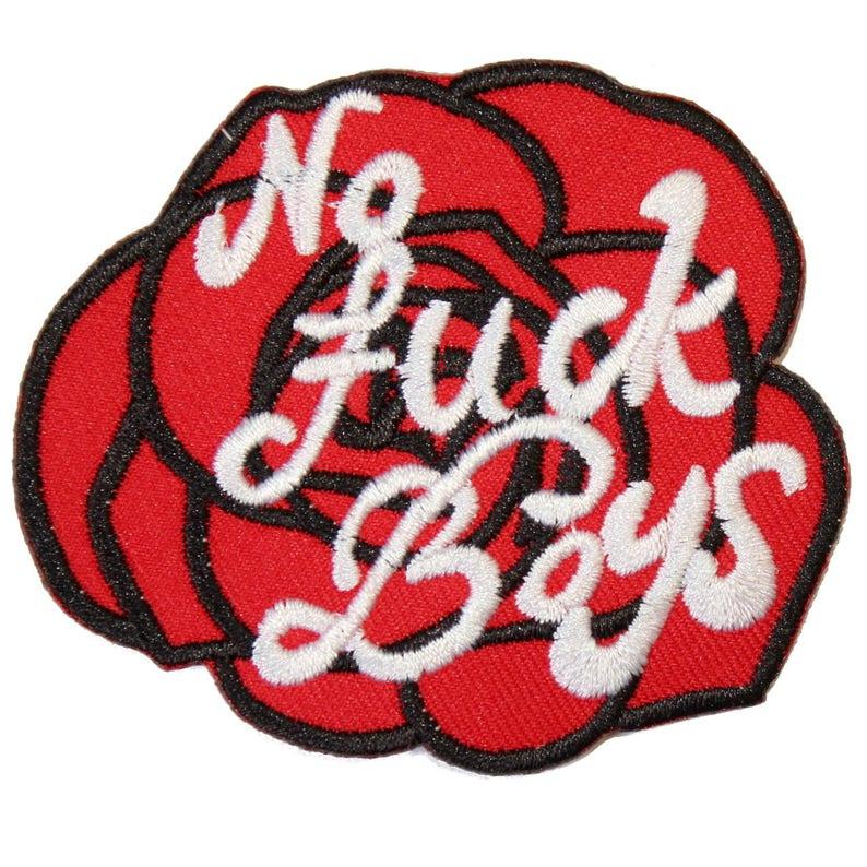 Kein Ficken Jungen Rose Eisen Auf Patch Stickerei Nähen Diy Etsy