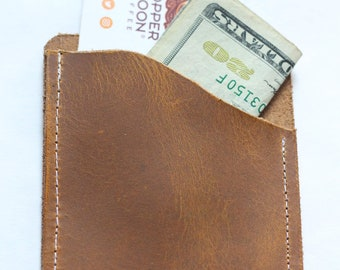 Minimalist Pocket Leather Wallet Brown