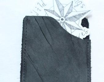 Minimalist Pocket Leather Wallet Black