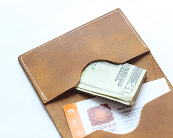 Minimalist BiFold Leather Wallet Brown