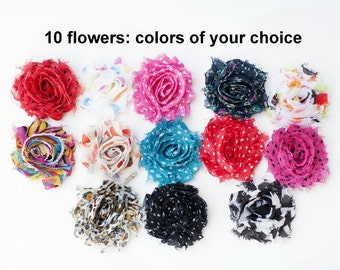 Shades of Red Fabric Silk Flowers Craft Hair Clips DIY SEW//GLUE ON CHOOSE KIT