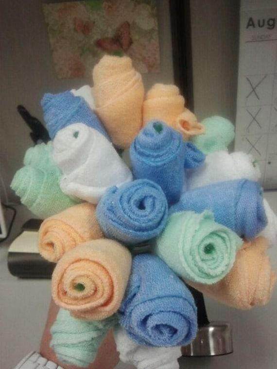 Items similar to Baby washcloth flowers on Etsy