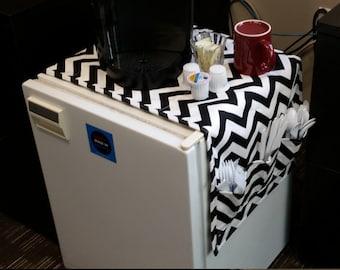 45  Inch Dorm Room Table Runner Pocket Organizer Fridge Refrigerator Storage Pouch High School Graduation College Gift Idea CoffeeKidsNDolls