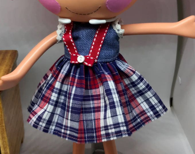 Handmade Dress for Lalaloopsy Doll // Full Size Big Sister // Doll Clothes // Under 10 // For Girls // Schoolgirl