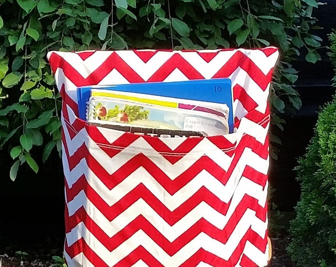 Preschool Classroom  // Seat Sacks // Storage  <<12 inch VALUE>> Red Chevron // Day Care // CLOSEOUT