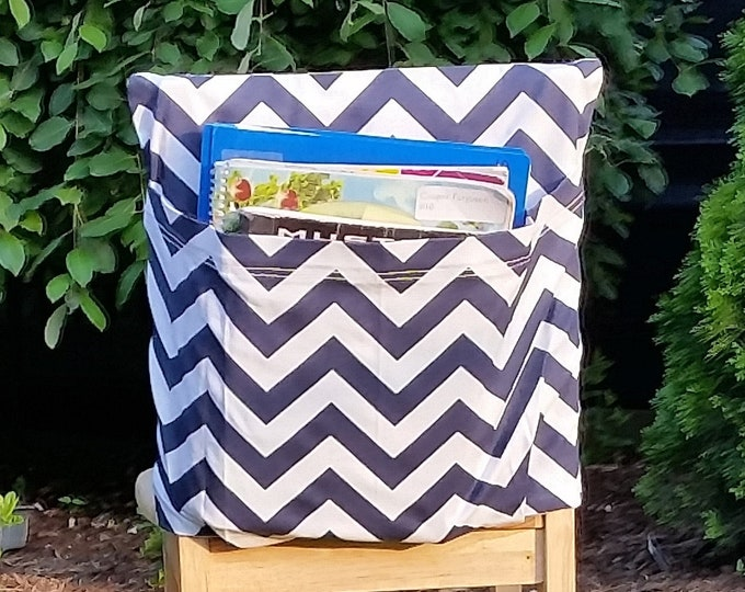 Preschool Classroom  // Seat Sacks // Storage  <<12 inch VALUE>> Cobalt Blue Chevron // Day Care // CLOSEOUT