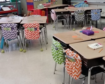 VALUE // Classroom Chair Pocket Sets // Teacher Organization // Seat Sacks // Kindergarten  // You CHOOSE Qty & Colors // For Teachers