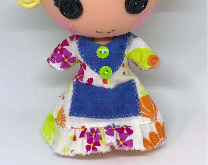 Multi Color Nightgown for Lalaloopsy Little Doll // Little Sister // Doll Clothes// Under 10 // For Girls // Yellow